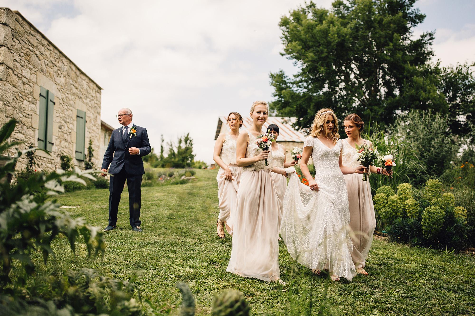 Hannah-Bespoke-Bridesmaids-Bohemian-French-Wedding-Gold-Lace-Susanna-Greening-Designs-Matlock-Derbyshire-5