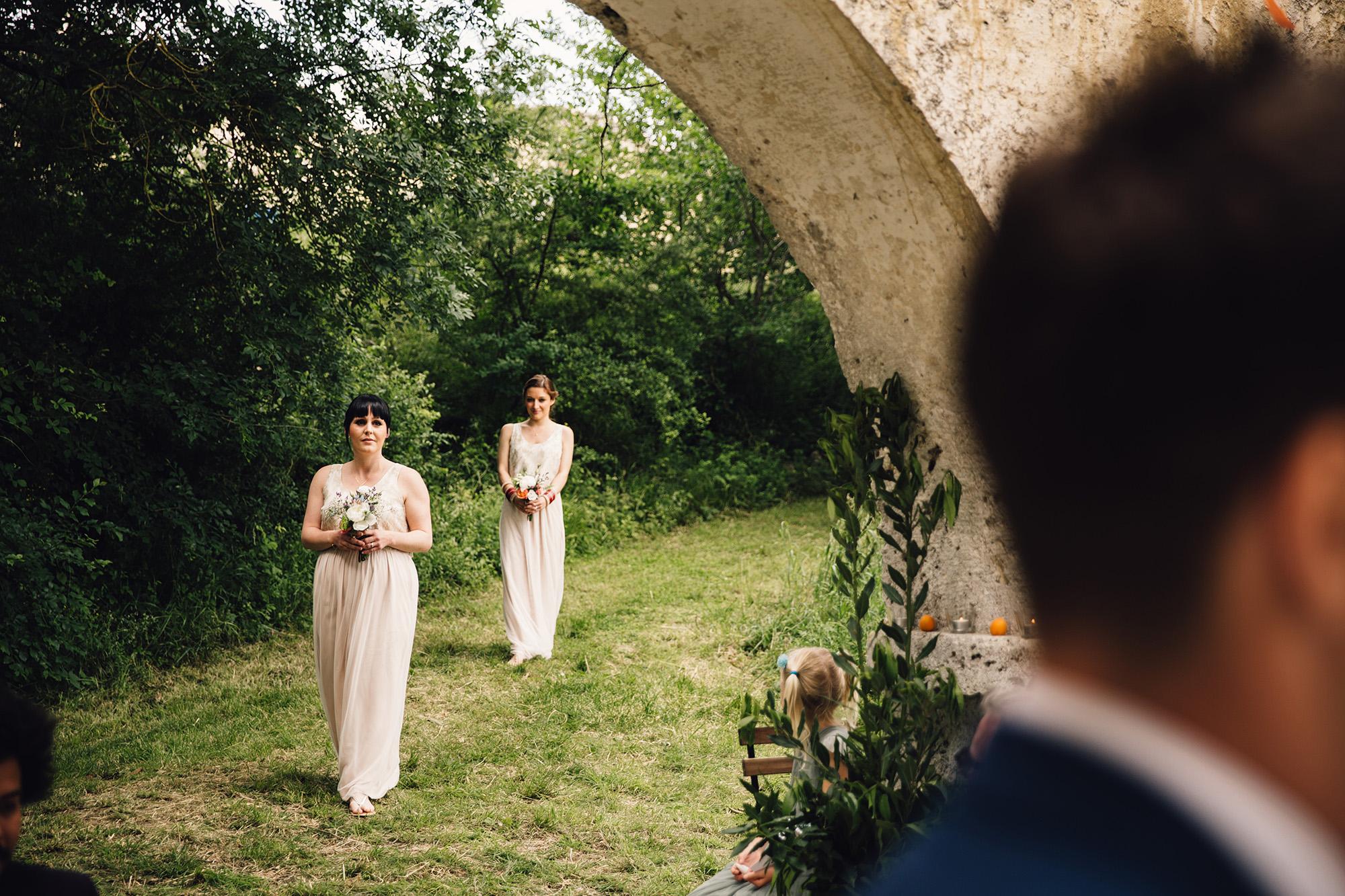 Hannah-Bespoke-Bridesmaids-Bohemian-French-Wedding-Gold-Lace-Susanna-Greening-Designs-Matlock-Derbyshire-6
