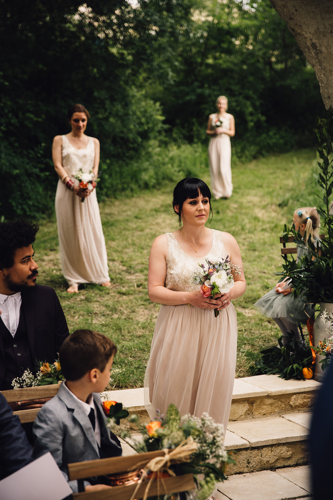 Hannah-Bespoke-Bridesmaids-Bohemian-French-Wedding-Gold-Lace-Susanna-Greening-Designs-Matlock-Derbyshire-7