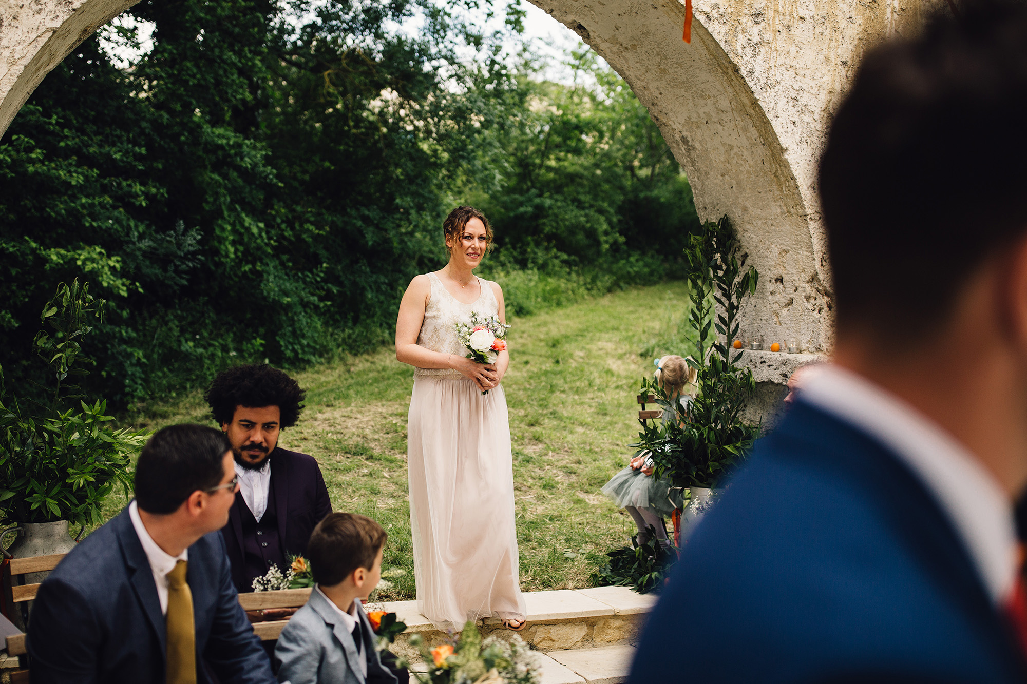 Hannah-Bespoke-Bridesmaids-Bohemian-French-Wedding-Gold-Lace-Susanna-Greening-Designs-Matlock-Derbyshire-11