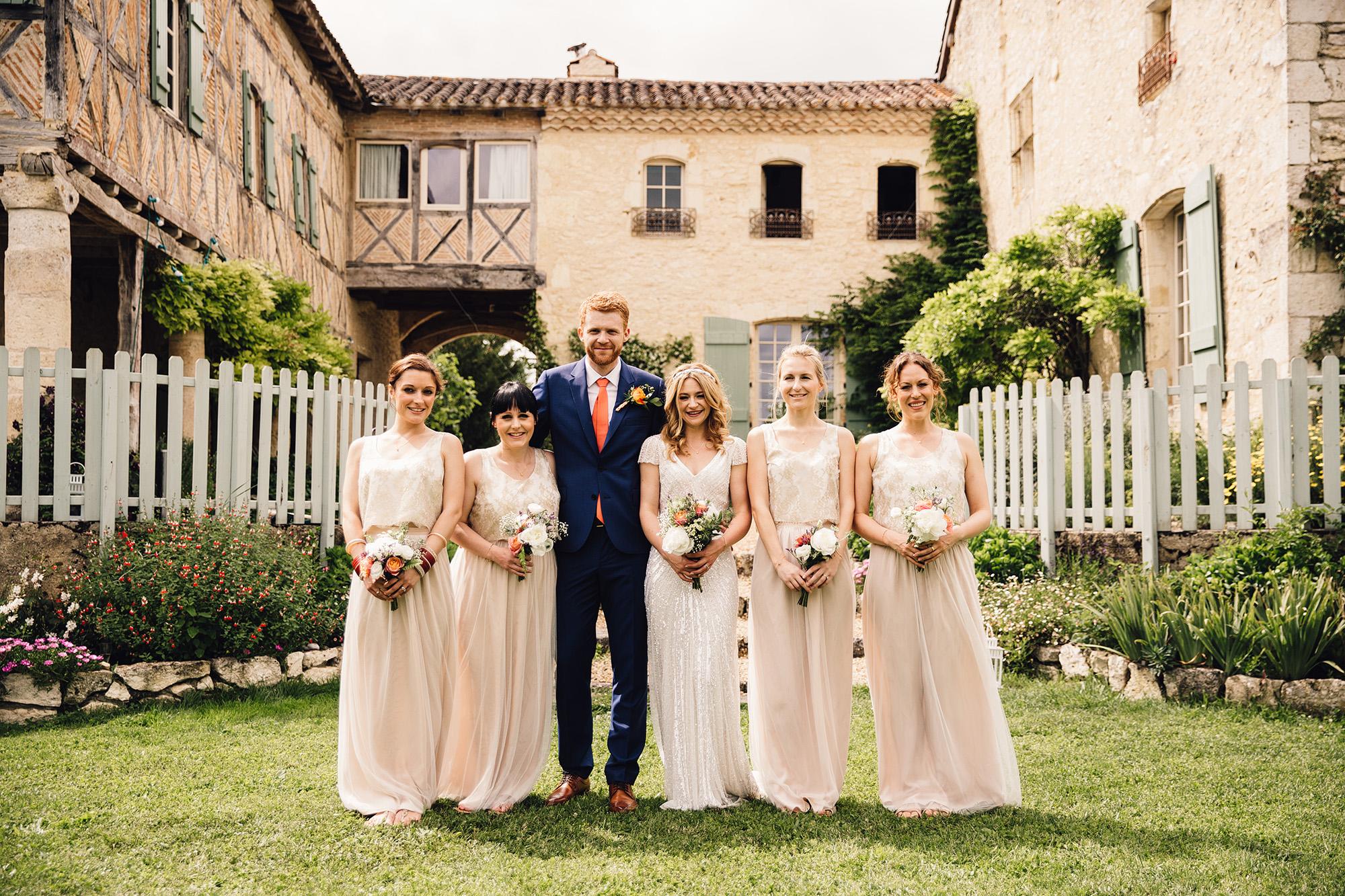 Hannah-Bespoke-Bridesmaids-Bohemian-French-Wedding-Gold-Lace-Susanna-Greening-Designs-Matlock-Derbyshire-16