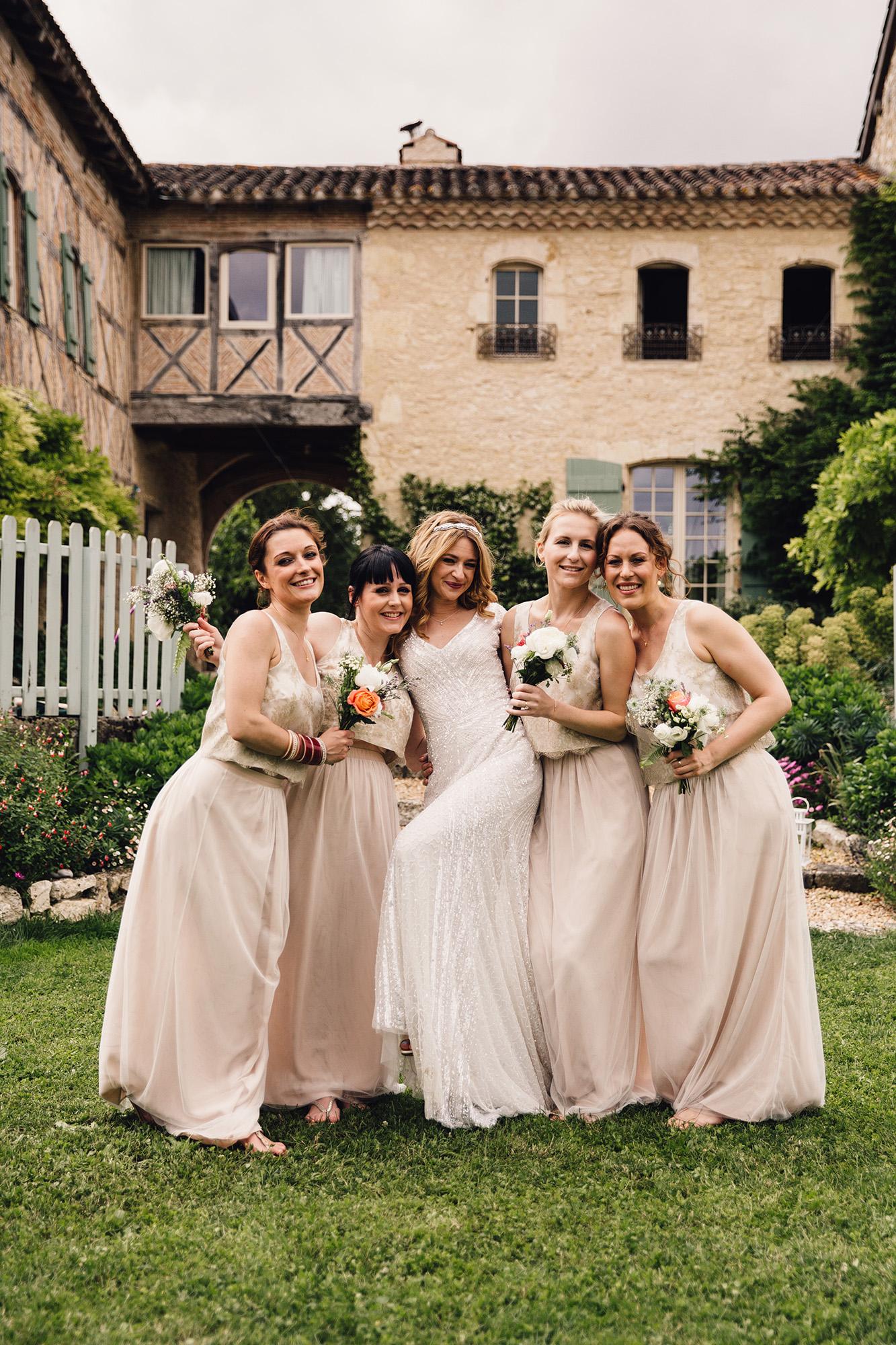Hannah-Bespoke-Bridesmaids-Bohemian-French-Wedding-Gold-Lace-Susanna-Greening-Designs-Matlock-Derbyshire-18