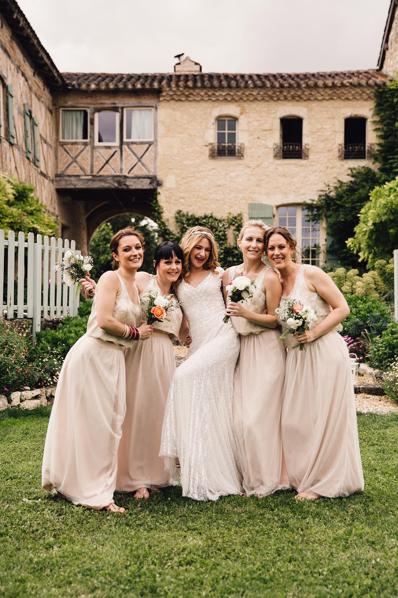Hannah-Bespoke-Bridesmaids-Bohemian-French-Wedding-Gold-Lace-Susanna-Greening-Designs-Matlock-Derbyshire-19