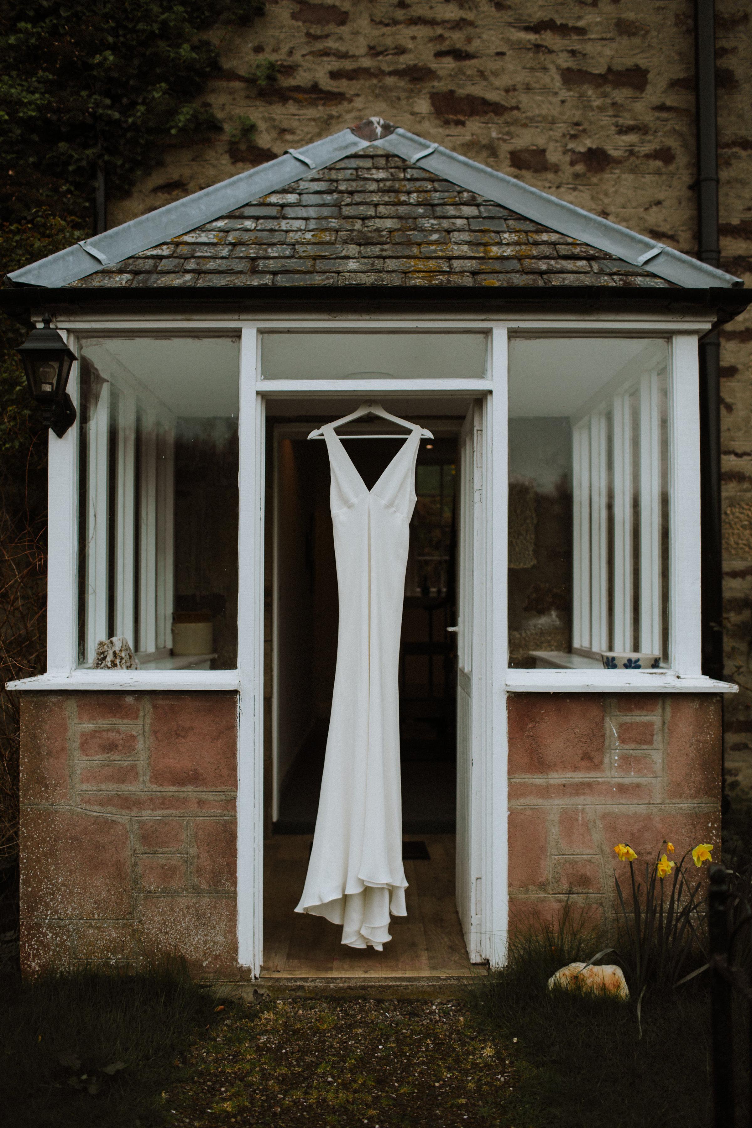 Katt-Scotland-Comrie-Crieff-Bias-Crepe-Wedding-Gown-Lace-Bridal-Biker-Jacket-Bespoke-Susanna-Greening-Derbyshire-2