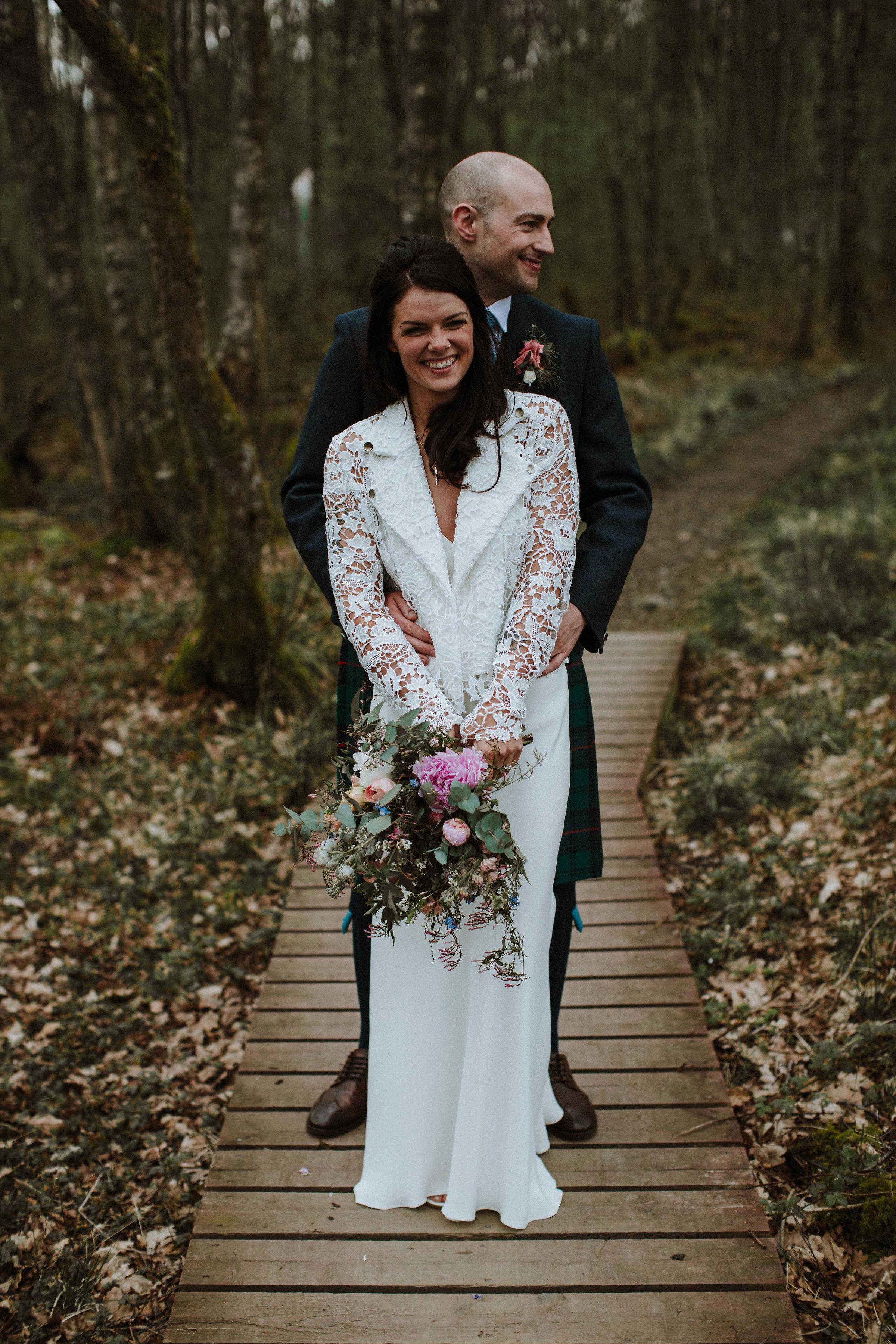 Katt-Scotland-Comrie-Crieff-Bias-Crepe-Wedding-Gown-Lace-Bridal-Biker-Jacket-Bespoke-Susanna-Greening-Derbyshire-19