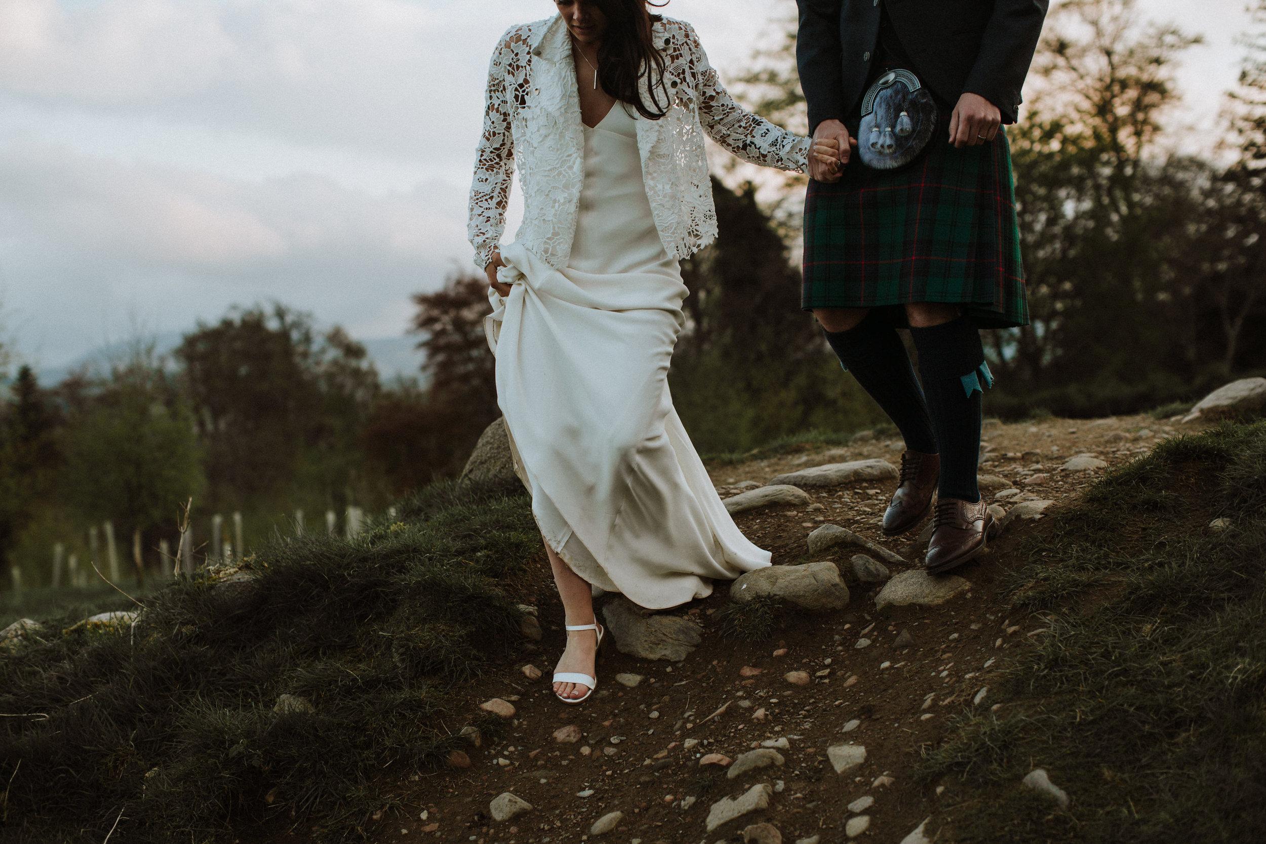 Katt-Scotland-Comrie-Crieff-Bias-Crepe-Wedding-Gown-Lace-Bridal-Biker-Jacket-Bespoke-Susanna-Greening-Derbyshire-1