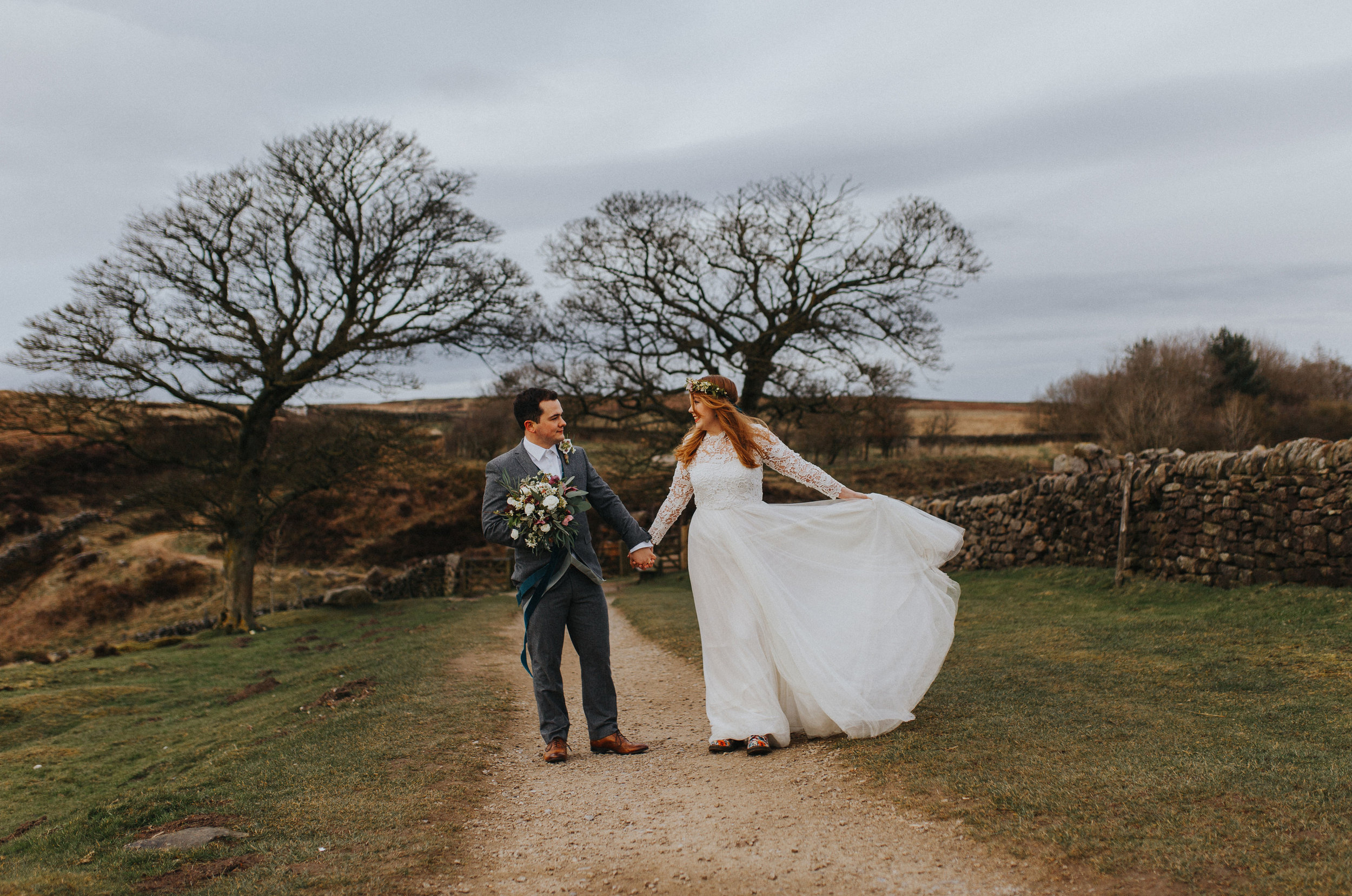 Rosie-peak district-bride-bespoke-long sleeved-lace-tulle-winter-wedding-dress-matlock-susanna-greening-2