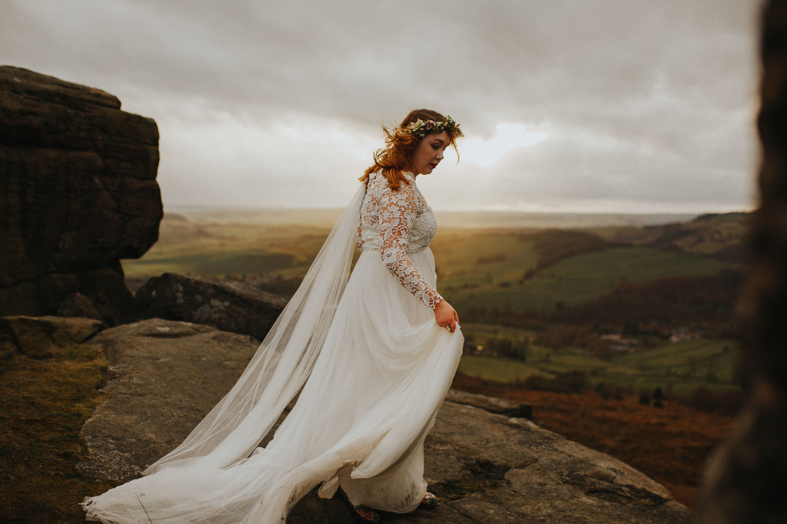 Rosie-peak district-bride-bespoke-long sleeved-lace-tulle-winter-wedding-dress-matlock-susanna-greening-11
