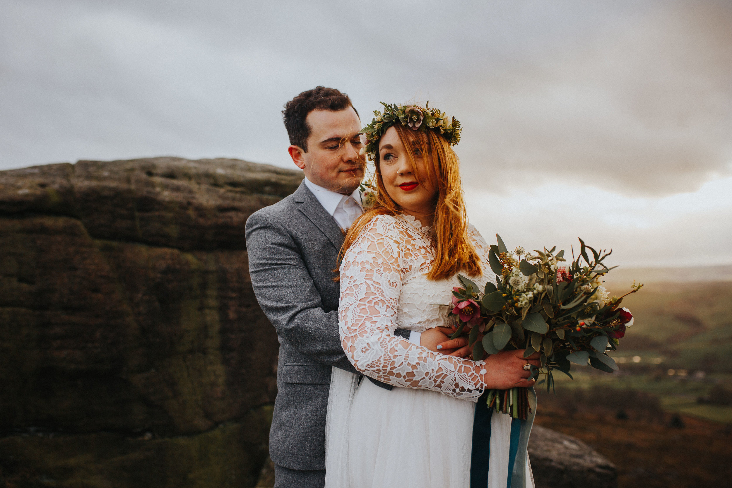 Rosie-peak district-bride-bespoke-long sleeved-lace-tulle-winter-wedding-dress-matlock-susanna-greening-12