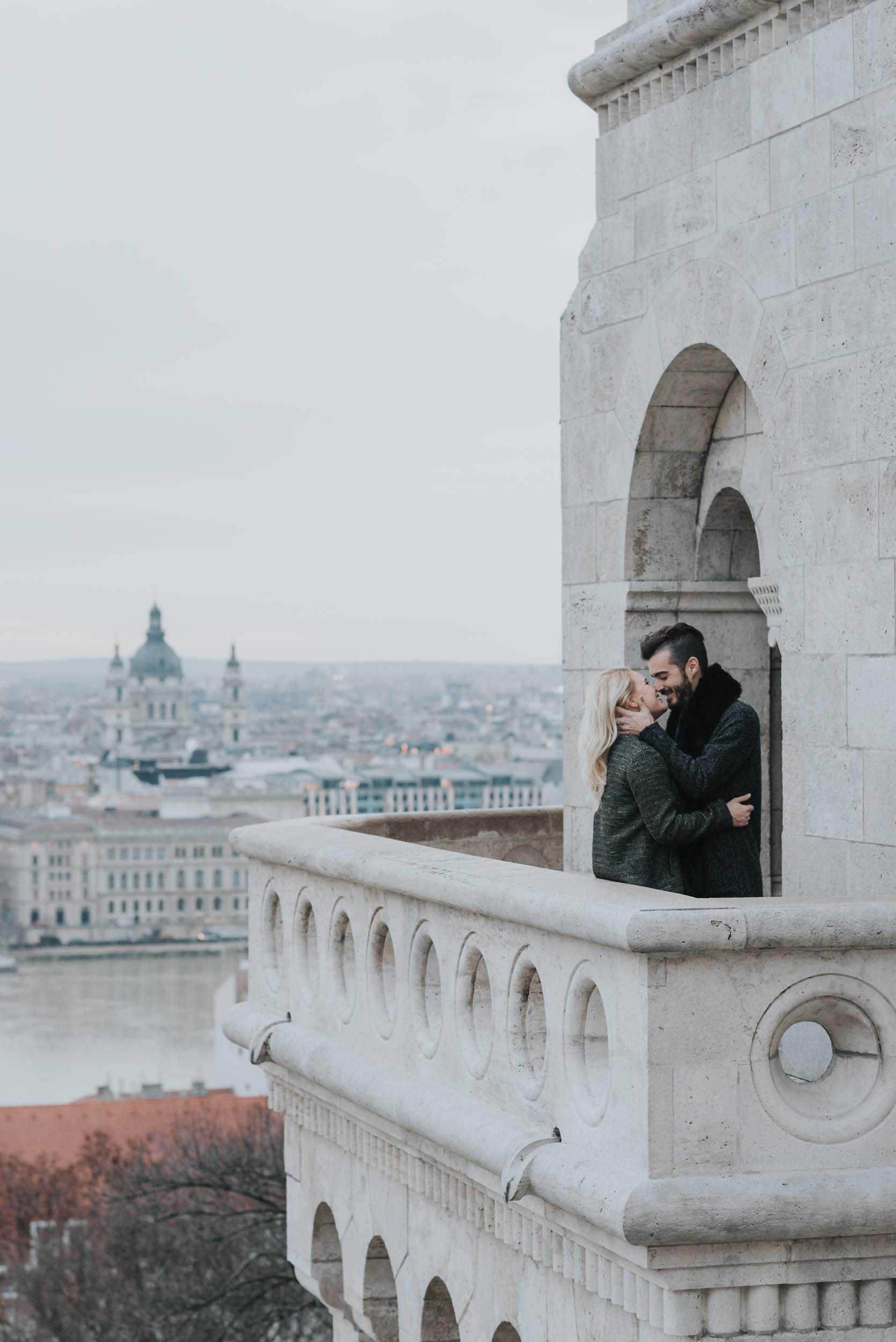 Budapest portrait photographer at Fisherman's Bastion