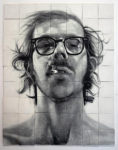 Chuck Close, Self-Portrait with Cigarette