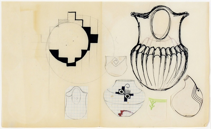 Christine Nofchissey McHorse, Untitled Drawing (Wedding Pot), 1998