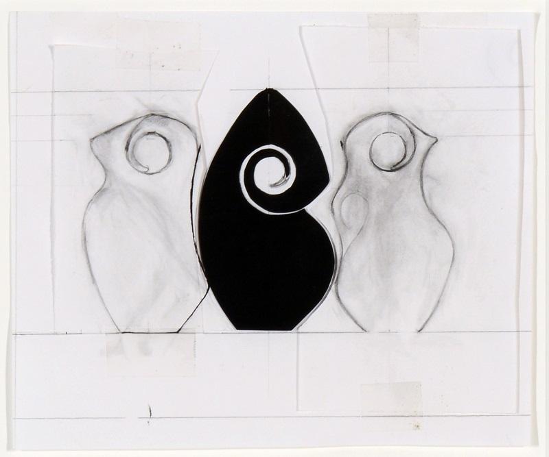 Christine Nofchissey McHorse, Untitled Drawing (Spiral Triptych), 2012