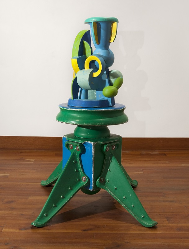 Doug Herren, Blue Vase Cluster, 2016 (top); Blue Green Stand, 2012 (bottom)