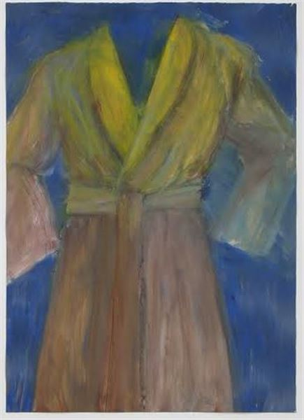 Jim Dine,  Untitled (Robe) IV , 1979, oil on paper, 41 ½ x 29 ½ inches
