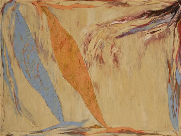 Stanley Boxer,  Snowfleeceshards,  1974, oil on linen, 60 x 80 inches