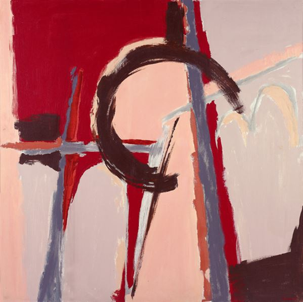 Judith Godwin,  Infidel , 1979, oil on canvas, 50 x 50 inches