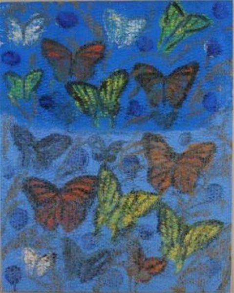 Hunt Slonem,  Fine Butterflies 2 , 2002, oil on canvas, 40 x 32 inches