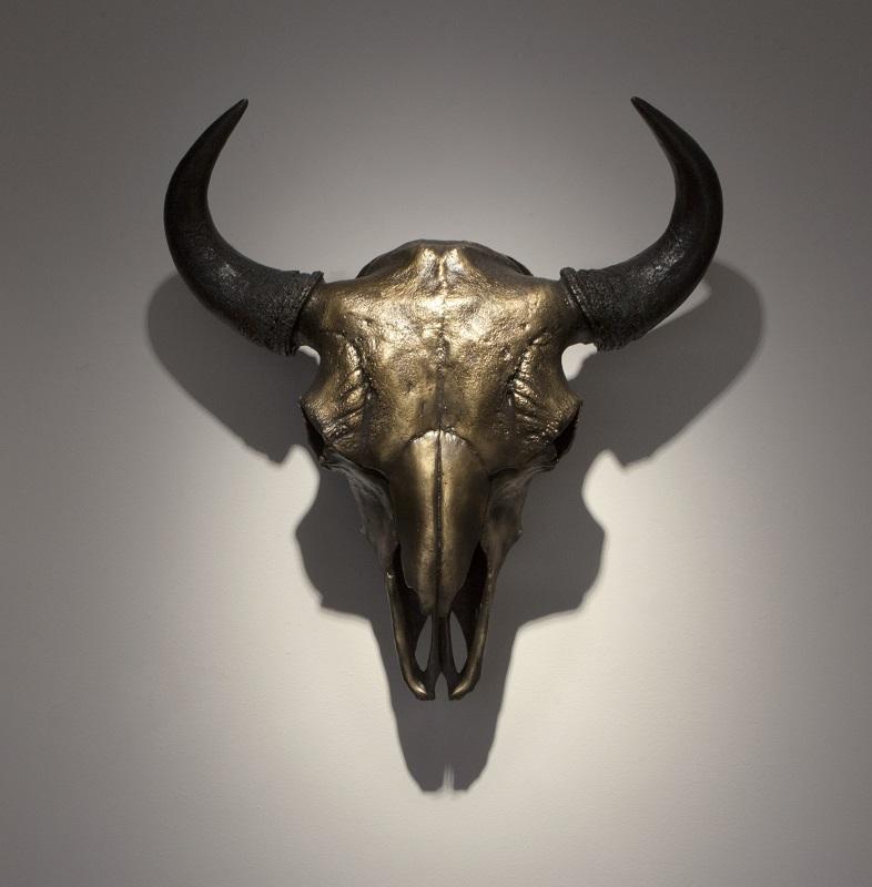 George Rivera, Buffalo Skull, 2017