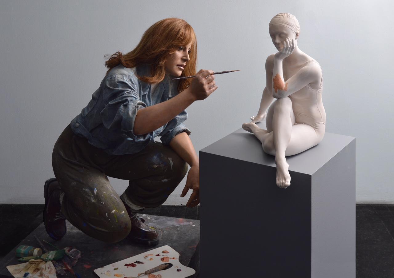 Carole Feuerman, Self-Portrait, 1989-2018