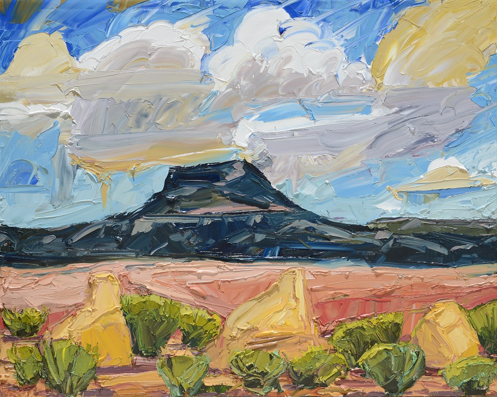 Mateo Romero, Tsi Ping Series (Flint Mountain), 2018