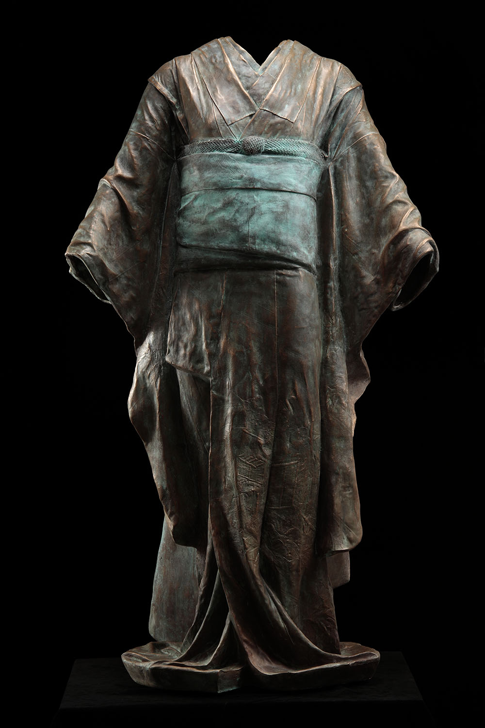Maiko,  2011, 2/3, Bronze, 52 x 31 1/2 x 22 1/2 inches. Now on view at Gerald Peters Projects, Santa Fe.