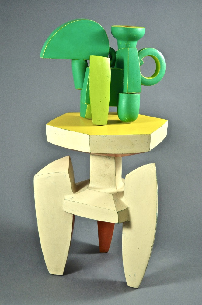 Green Chromatic Ewer & Ivory Stand