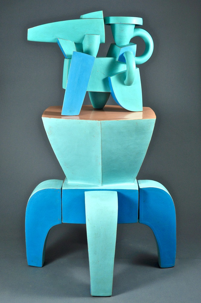 Aqua Chromatic Ewer & Blue Stand