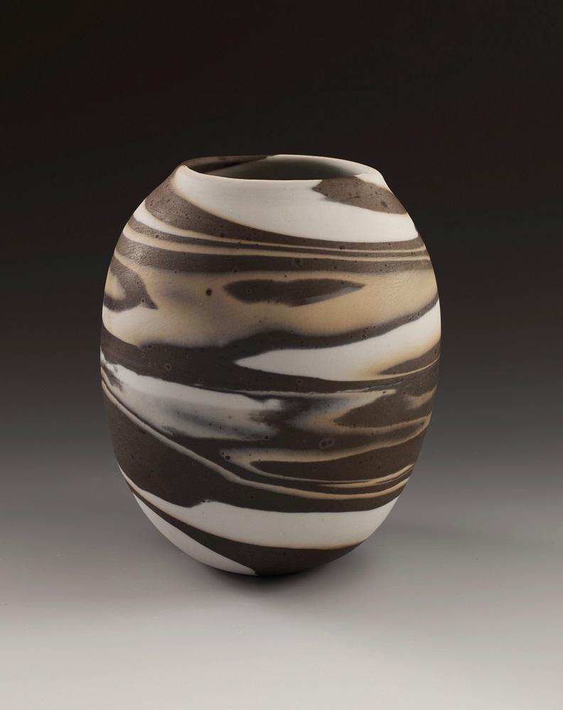 Brown, Tan, & White Swirl Vessel, 2016