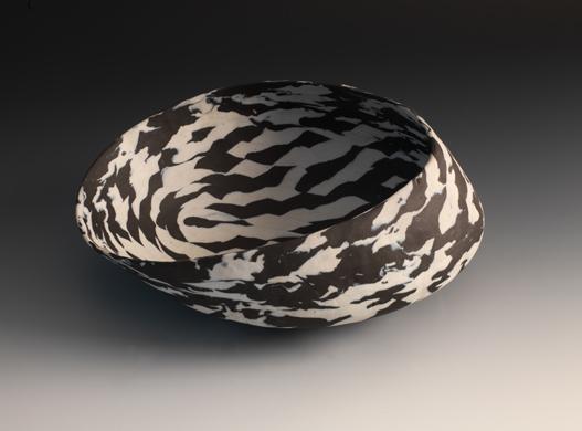 Black & White Tilted Vessel, 2011