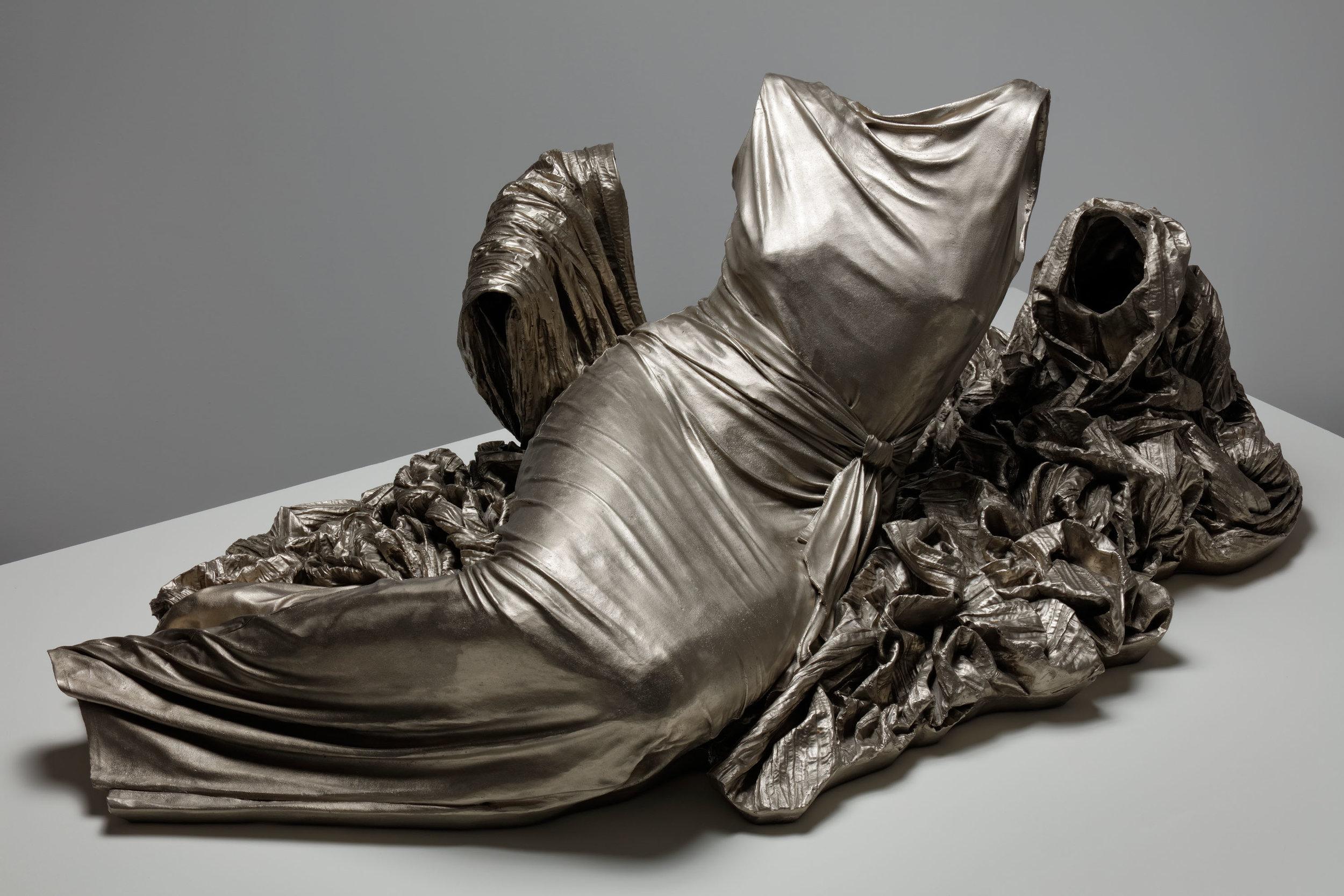 Reclining Nocturne 3, 1/3,  2015, white bronze, 22 2/5 x 59 x 31 in.