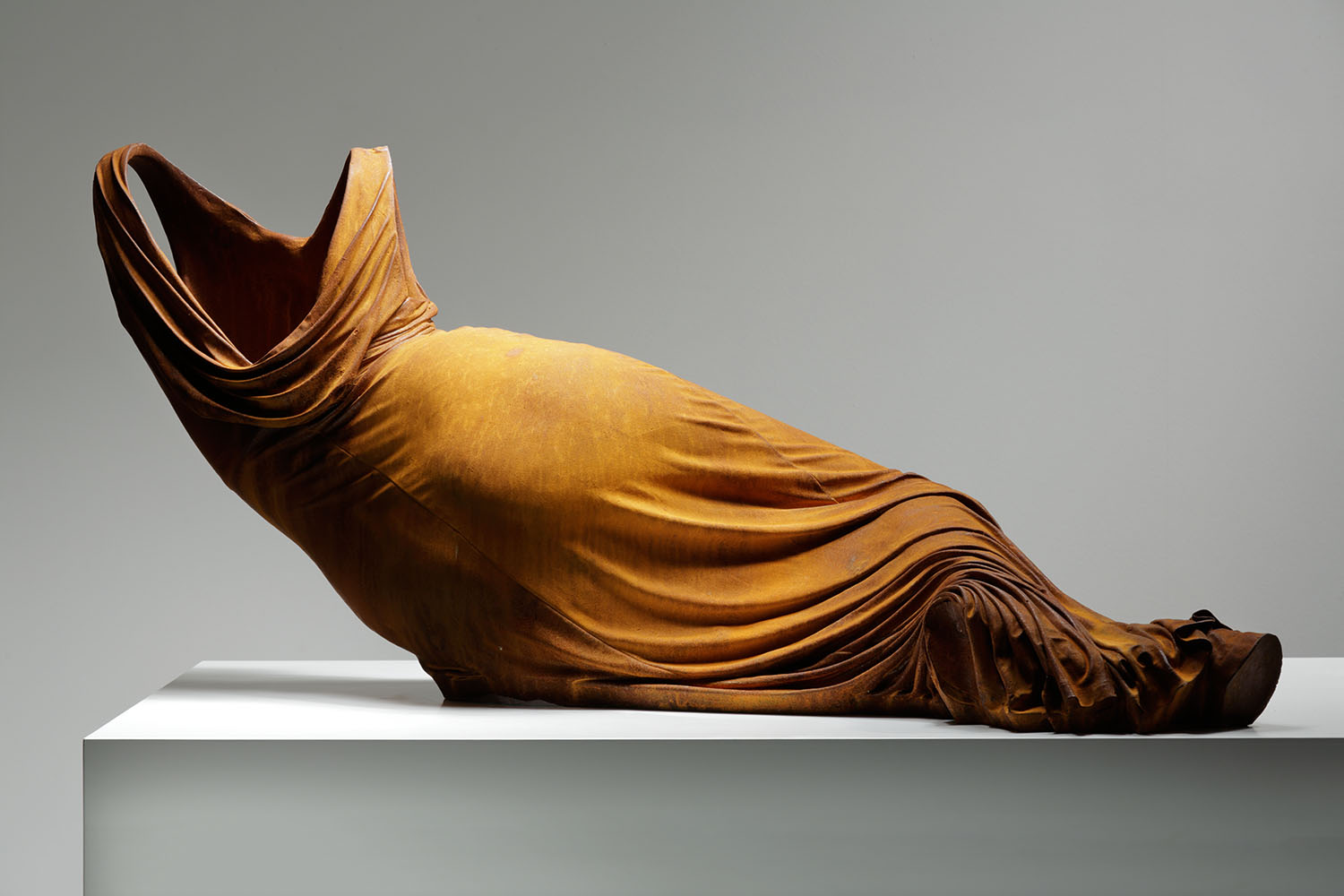 Reclining Nocturne 1, 1/3,  2015, rusted iron 21 2/3 x 49 x 19 2/3 in.