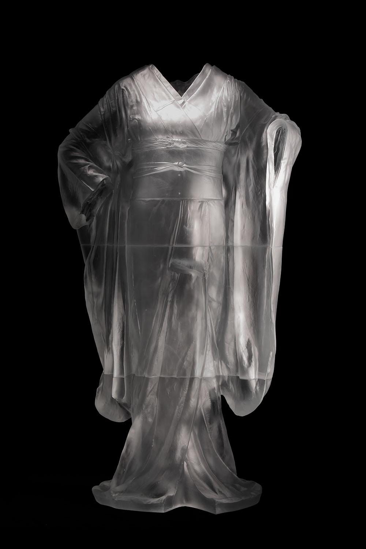 Odoriko,  3/3,   2013, cast glass, 53 3/4 x 30 x 17 in.