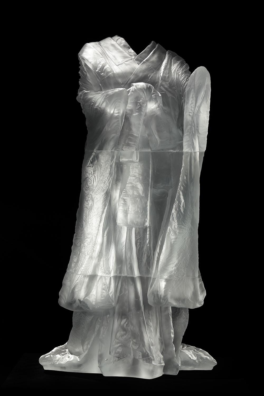 Kabuki,  AP1 ,  2013, cast glass, 59 2/3 x 31 2/3 x 33 in.