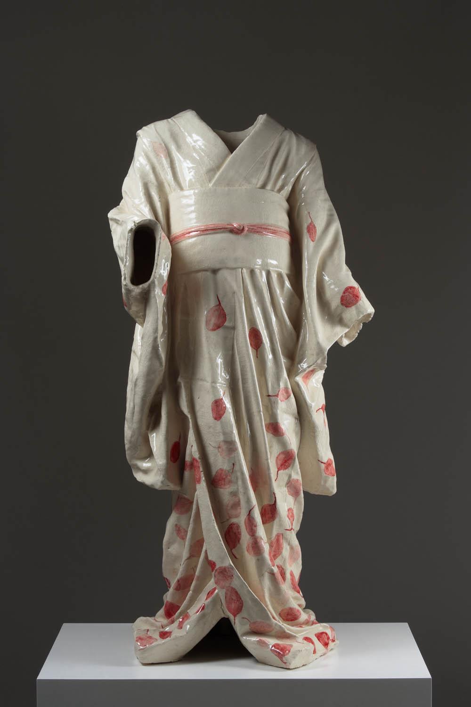 Child's Kimono, Unique,  2009, ceramic, 41 1/3 x 21 x 16 1/2 in.