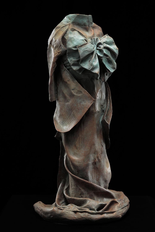 Kimono Maquette 2, Standing,  AP1, 2013 ,  bronze, 23 x 11 1/4 x 10 in