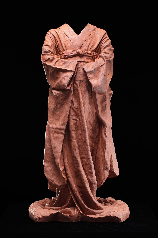 Young Maiko, unique,  2010, ceramic, 34 1/4 x 19 1/2 x 16 3/4 in.