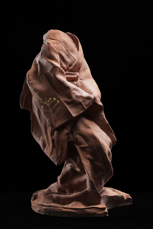Maquette 1, Crouching,  unique, ceramic, 18 x 10 x 9 2/3 in.