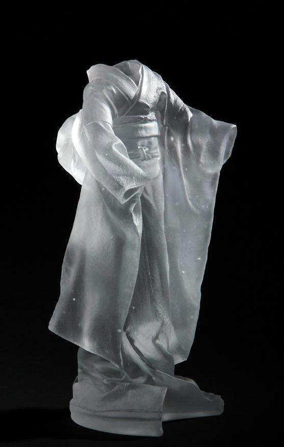 Kimono Maquette 4, 3/5,  2014, cast glass, 18 2/3 x 8 1/4 x 9 1/4 in.
