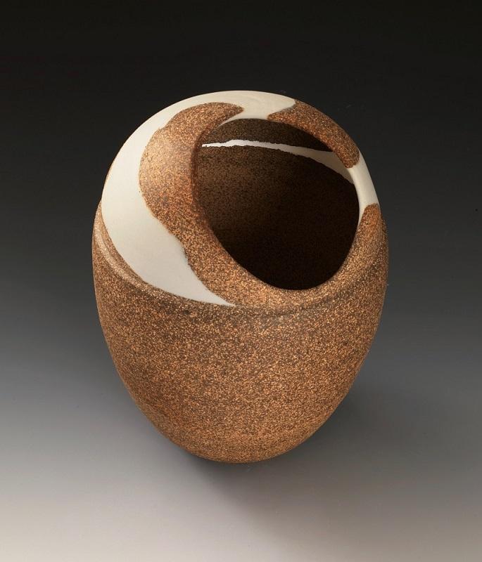 White & Toast Hive , 2016, stoneware & porcelain, 7 1/2 x 6 x 6 inches.