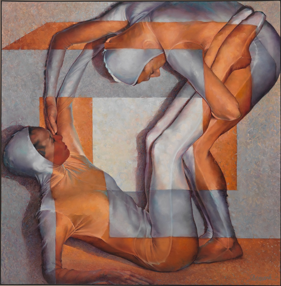 The Space Between Us , 2015, oil on canvas, 64 x 64 1/4 inches.
