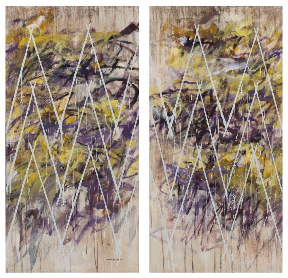 Your Colors Dance in the Wind (diptych), 2019