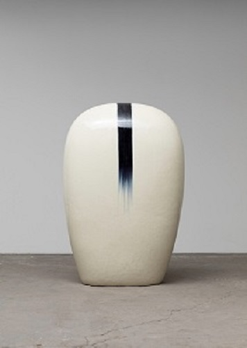 Untitled, glazed raku ceramics, 38 3/4 x 26 1/2 x 16 1/2 inches.