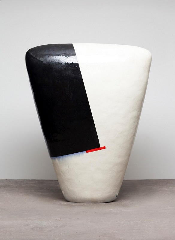 Untitled, 2013, glazed ceramics, 85 x 64 x 24 inches.