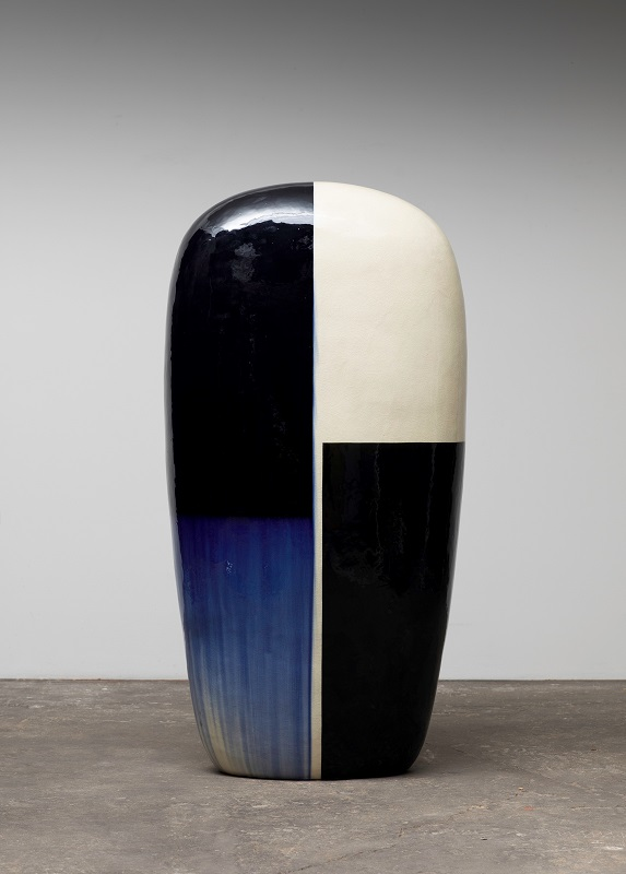 Untitled, 2019, glazed ceramics, 57 1/2 x 30 x 18 inches.