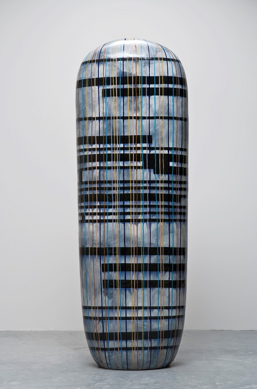 Untitled, 2006, glazed ceramics, 85 x 30 x 16 inches.