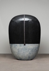 Untitled, 1993, glazed ceramics,  75 x 52 1/2 x 26 inches.