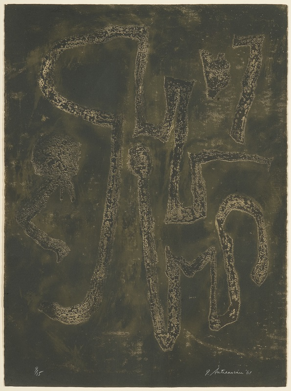 Token: Plate 10, 9/15, 1961, Lithograph, 30 x 22 1/4 inches.