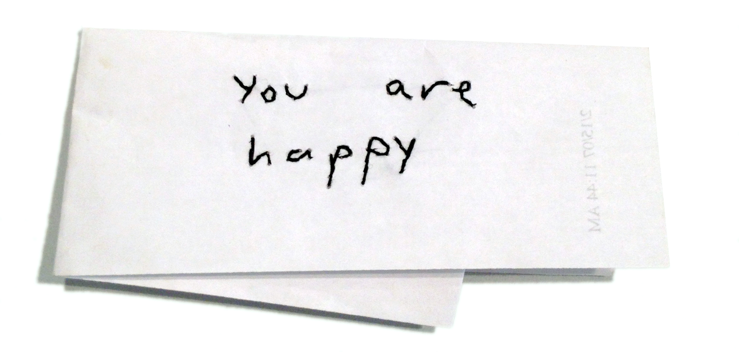 YOU ARE HAPPY  (front)