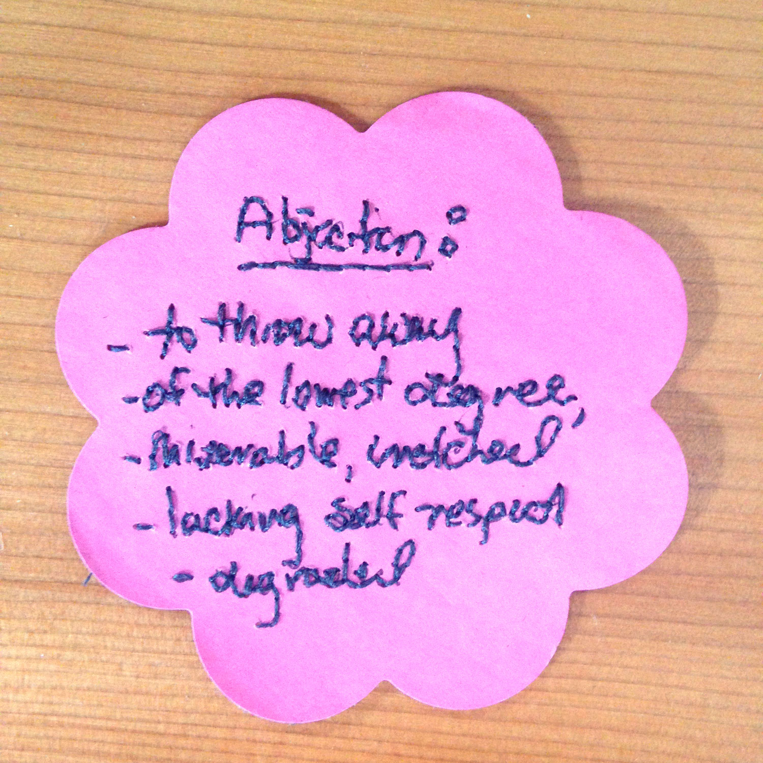ABJECTION  (front)